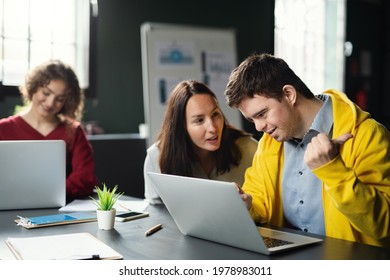 Down-syndrome man attending education class in community center, inclusivity of disabled person. - Shutterstock ID 1978983011