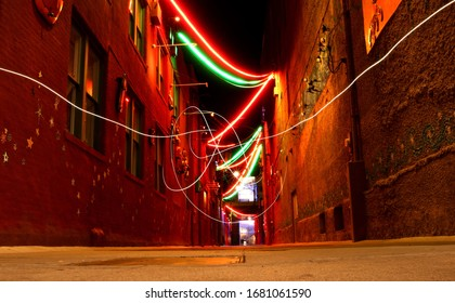 Downtown Alley in Lincoln, Nebraska