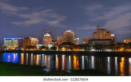 The Downtown Area of Dayton Ohio as seen from the bike trails along the Great Miami River.