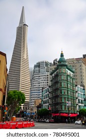 Downtown areas of San Francisco, CA USA.