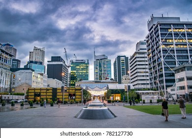 Downtown Auckland (City Center) in the Evening - New Zealand