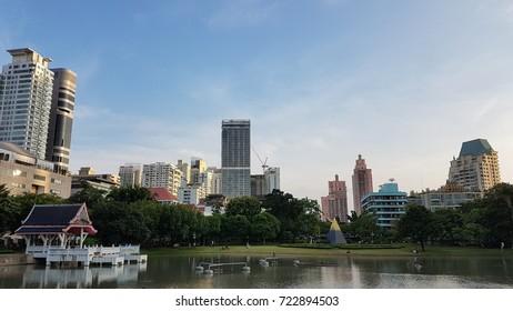 Downtown of Bangkok city.
