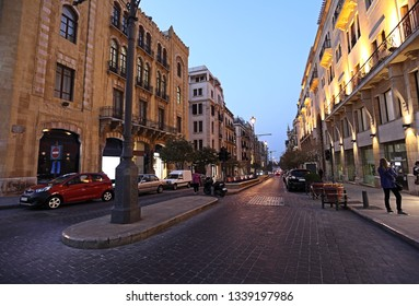 Downtown Beirut, Foch Street in the early evening