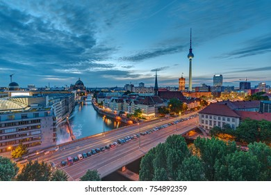 Downtown Berlin at dusk