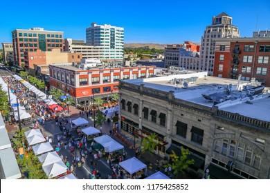 downtown Boise, Idaho farmer's market