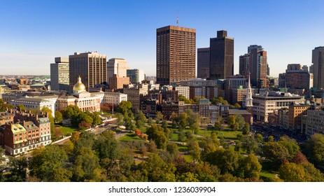 Downtown Boston Massachusetts On Parade Day World Series Champion Celebration