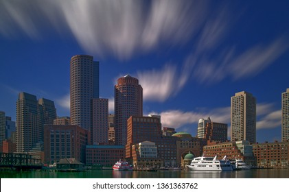 Downtown Boston as seen from the Seaport District.
