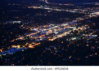 Downtown Boulder, Colorado at Night