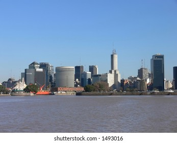 DOWNTOWN BUENOS AIRES FROM THE RIVER