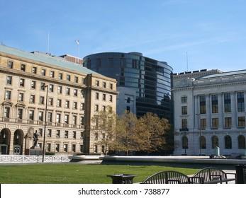Downtown buildings, diverse architecture