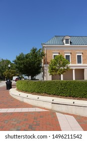 Downtown Cary, North Carolina on a Clear Summer Day
