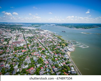 Downtown Charleston South Carolina Aerial Image