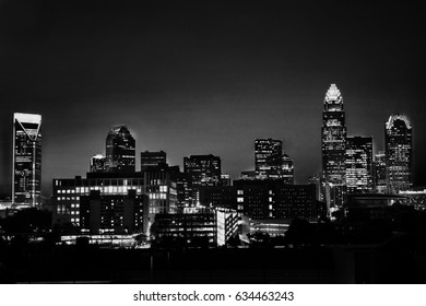 Downtown Charlotte at night