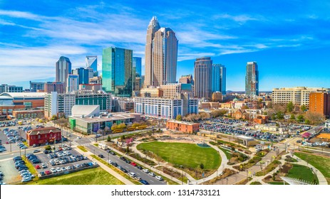 Downtown Charlotte North Carolina from First Ward Park