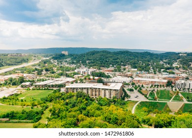 Downtown Chattanooga Tennessee Aerial View