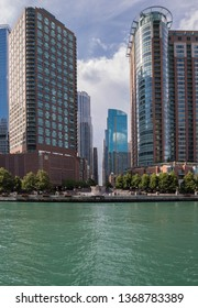Downtown of Chicago city in the United States
