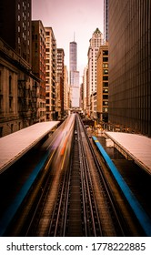 Downtown Chicago on the Adams\Wabash stop