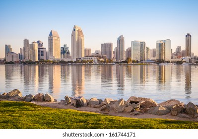 Downtown City of San Diego, California USA, Dawn Sunrise