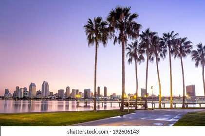 Downtown City of San Diego, California USA at Dawn