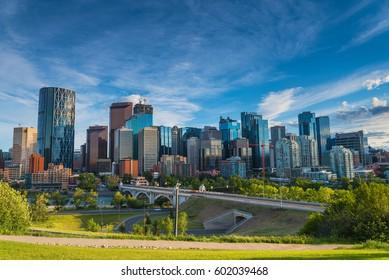 Downtown Cityscape of Calgary, Alberta, Canada