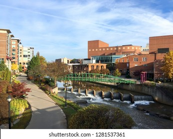 Downtown cityscape of Greenville, South Carolina, USA