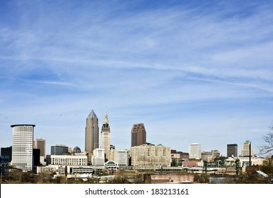 Downtown Cleveland - seen during late autumn.