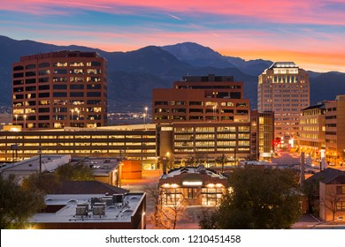 Downtown Colorado Springs at Dusk