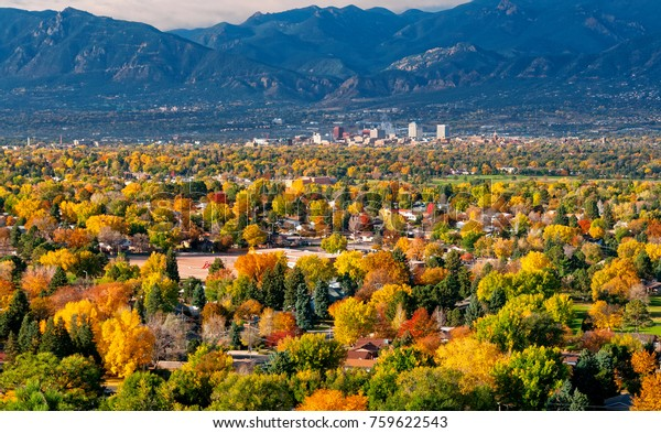 Downtown Colorado Springs as seen from Grandview Lookout in Palmer Park