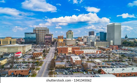 Downtown Columbia South Carolina Skyline SC Aerial Panorama