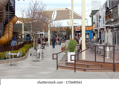 Downtown Container Park is an exciting sustainable shopping attraction in downtown Las Vegas and opened circa November 2013.