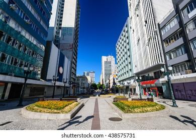 Downtown in Curitiba, Brazil