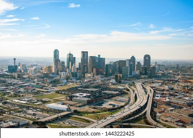 Downtown Dallas Aerial Skyline - Photos taken via Helicopter in Dallas, Texas.