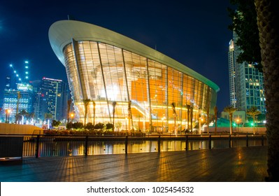 DownTown, Dubai, UAE,  1/19/2018,  Dubai Opera is the radiant centre of culture and arts in Dubai, With its unique 2000-seat multi-format Theatre. Tourist place in dubai, place to visit in UAE