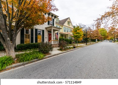 Downtown Easton during high Autumn Color in Maryland