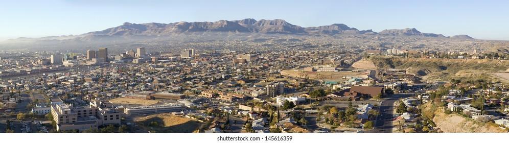 Downtown of El Paso Texas looking toward Juarez, Mexico