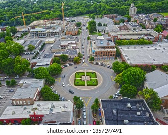 Downtown Franklin TN Aerial Shot of the Square