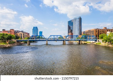 Downtown Grand Rapids Michigan view from the Grand River