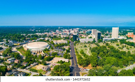 Downtown Greenville South Carolina Skyline Aerial.