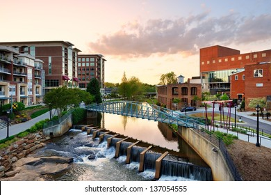 Downtown Greenville, South Carolina, USA.