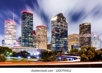Downtown Houston Skyline RED