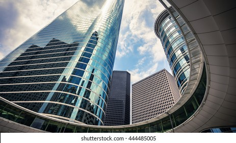 Downtown Houston, Texas skyscrapers against sky