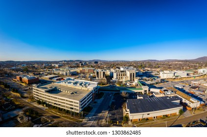 Downtown Huntsville Alabama, aerial view from just south of Twickenham Square and the hospital