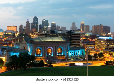 Downtown Kansas City Missouri at Sunset