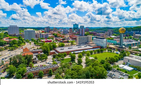 Downtown Knoxville Tennessee Skyline Aerial
