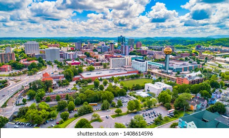 Downtown Knoxville Tennessee TN Skyline Aerial