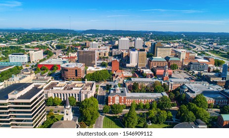 Downtown Knoxville Tennessee TN Skyline Aerial.