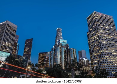 Downtown LA Buildings at Night