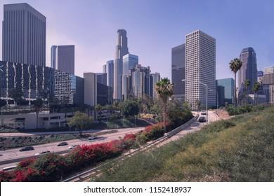 Downtown, LA Los Angeles, California  skyline.