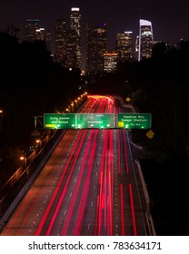 Downtown LA - Traffic - Freeway 110