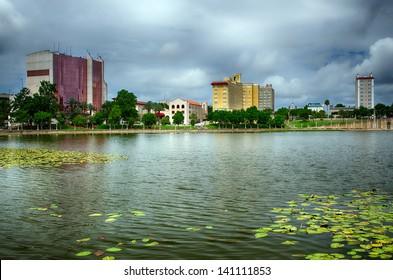Downtown Lakeland, Florida, on Lake Mirror